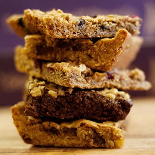 Photo of several Great Harvest bars stacked on top of each other