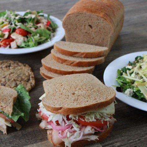 platter of great looking sandwiches and salads